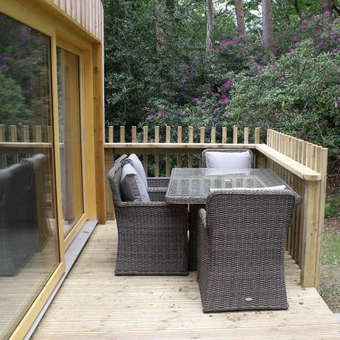 Burnbake Forest Lodges Outside Seating