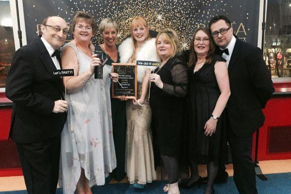 left to right: Paul Lowe, Vicki Lowe, Christine Wyburgh, Zoe Pattison, Sharon Avery, Sue Booth, Leon Essex