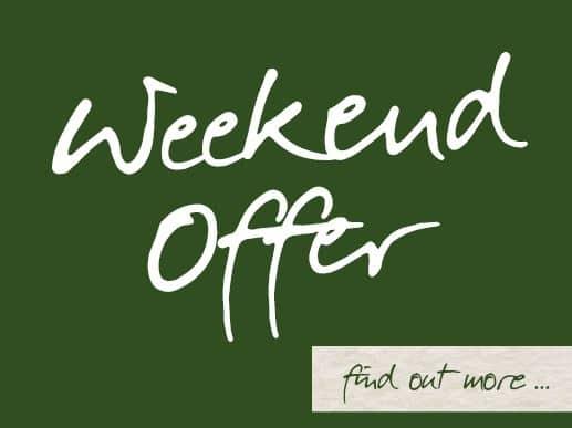 Burnbake Weekend Special Offers
