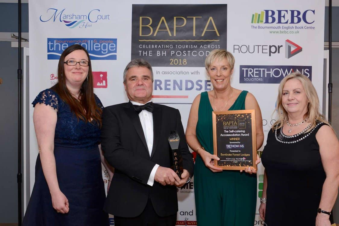 Self-Catering Accommodation Award Category goes to Burnbake Forest Lodges
