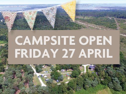 Campsite open 27 April 2018