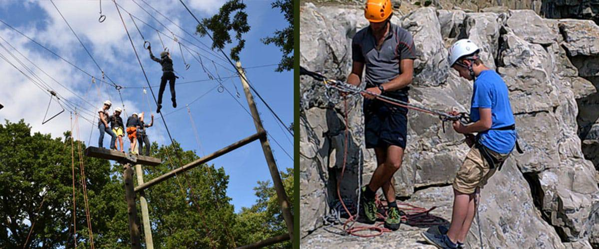 Burnbake Ropes Course: Quite literally at our front gate you will find the Burnbake Ropes Course, a challenging mix of zip wires and rope adventure high in the trees.