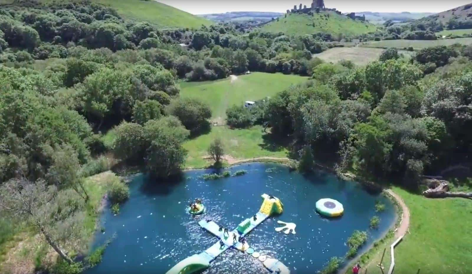 A five minute drive away is Dorset Water Park. Overlooking Corfe Castle it is fabulous fun with two giant lakes filled with many different inflatable obstacle challenges to tackle.