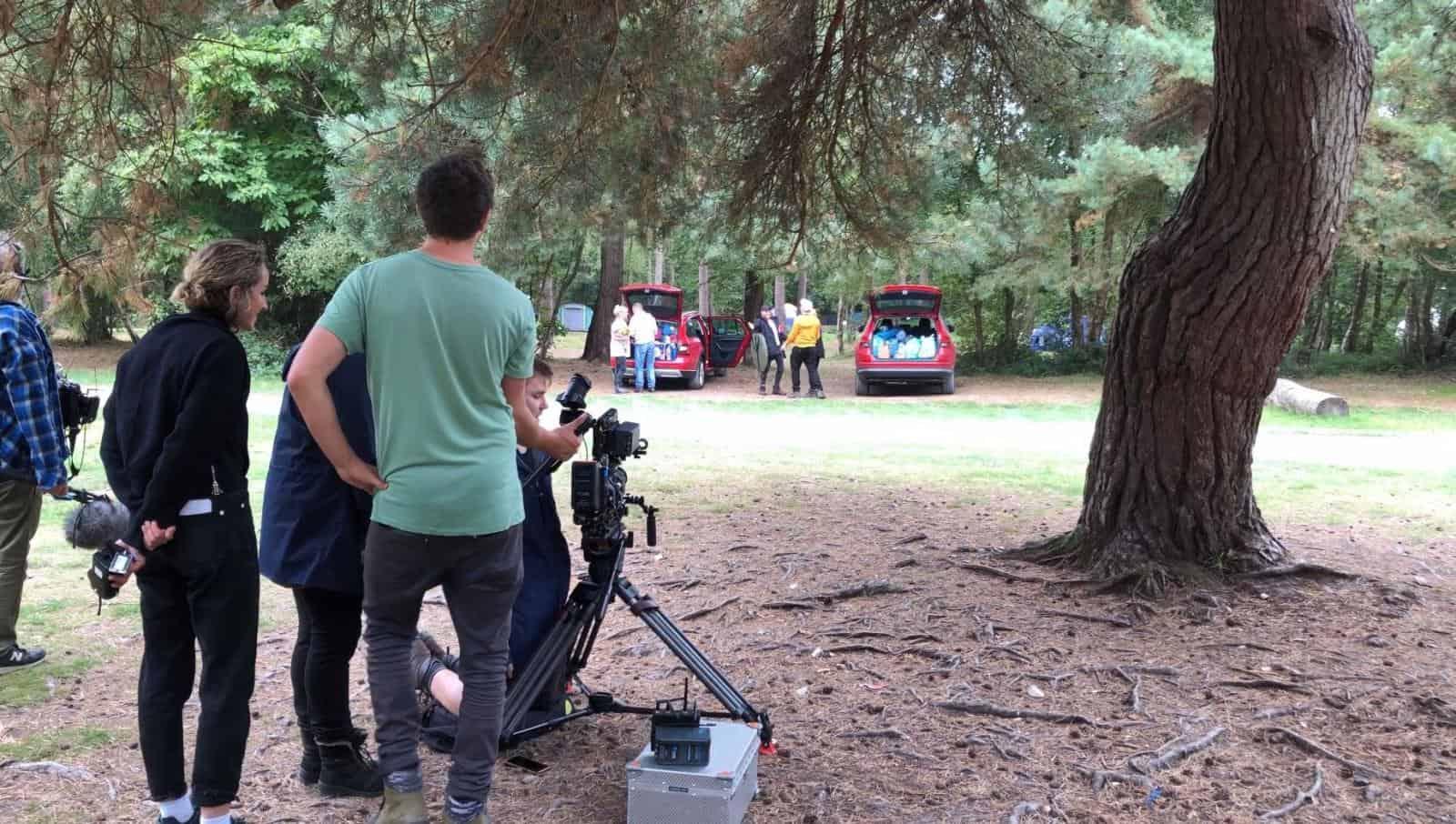 Filming at Burnbake