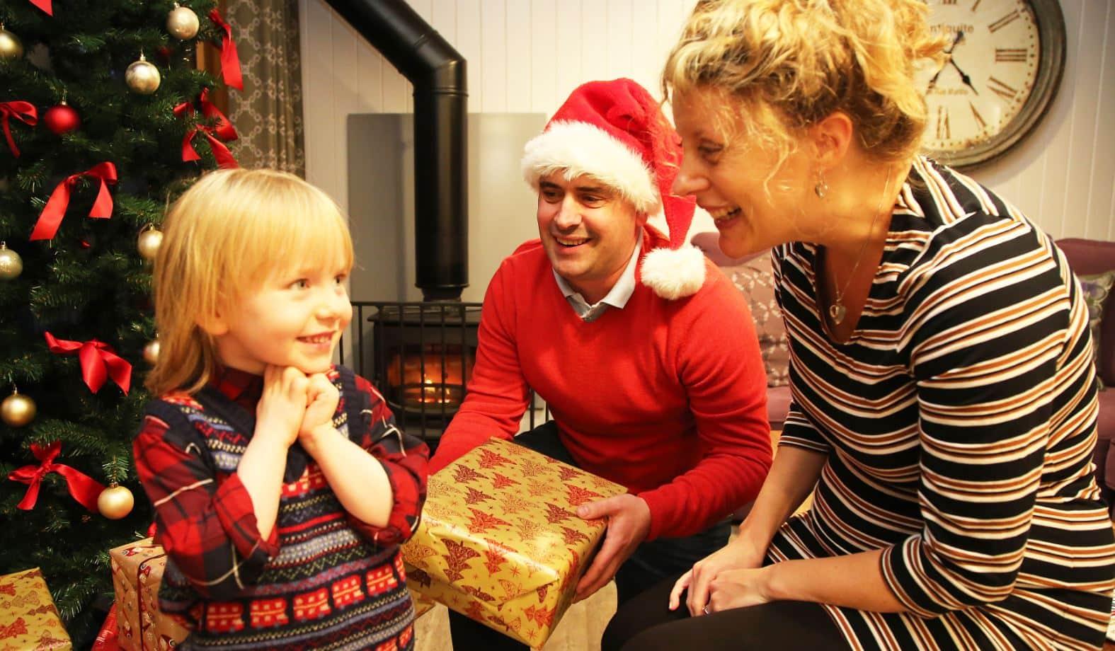 Magical Christmas family breaks at Burnbake Forest Lodges in Dorset