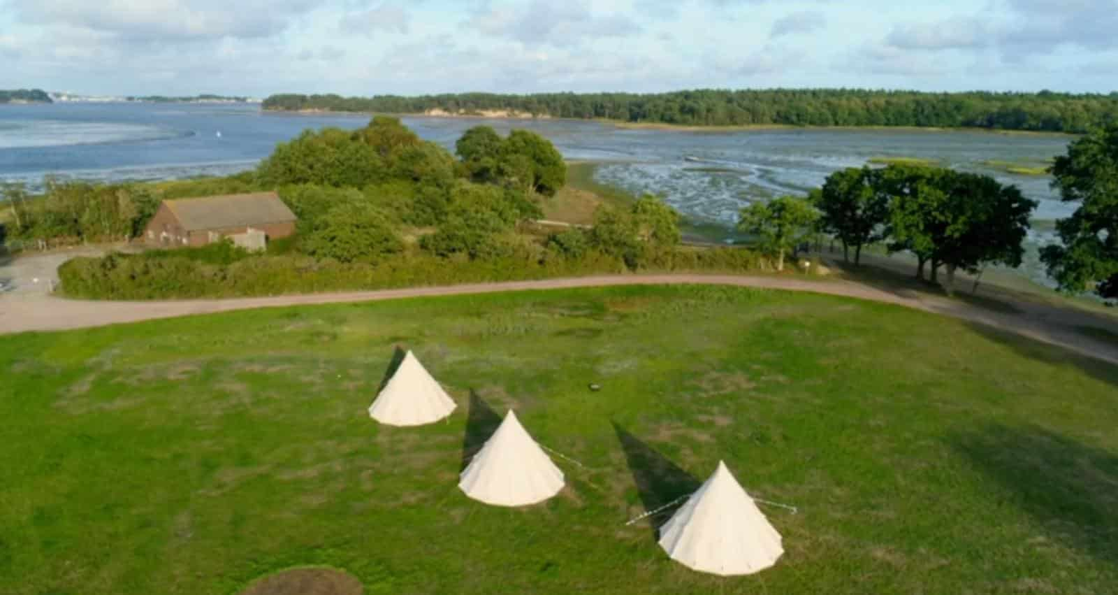Celebrity 5 Go Camping – Channel 5 filmed at Burnbake Forest Lodges and Campsite