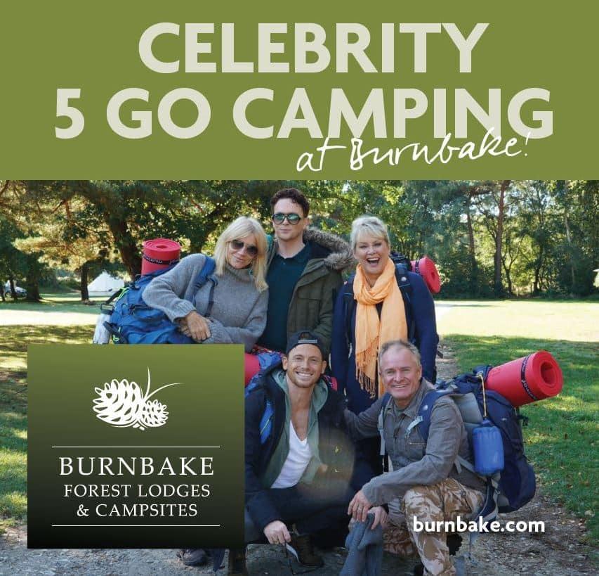 Filmed at Burnbake Campsite Celebrity Five Go Camping