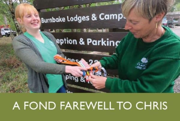 Zoe Pattison And Chris Wyburgh Burnbake Forest Lodges Hand Over