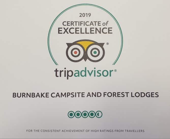 Burnbake Forest Lodges Dorset Tripadvisor 2019 Certificate