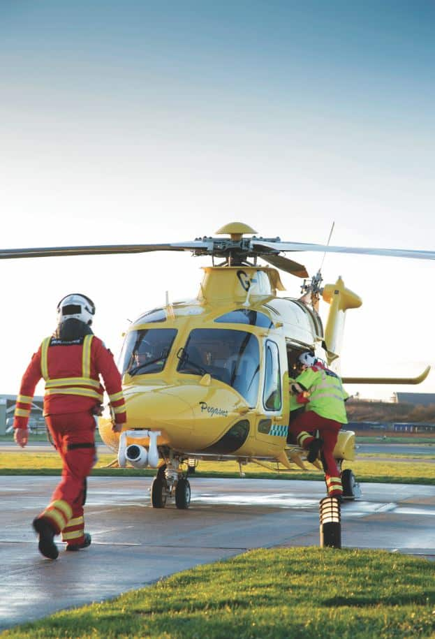 THE lifesaving team at the Dorset and Somerset Air Ambulance (DSAA) has been chosen as charity of the year by Purbeck's Burnbake Forest Lodges.